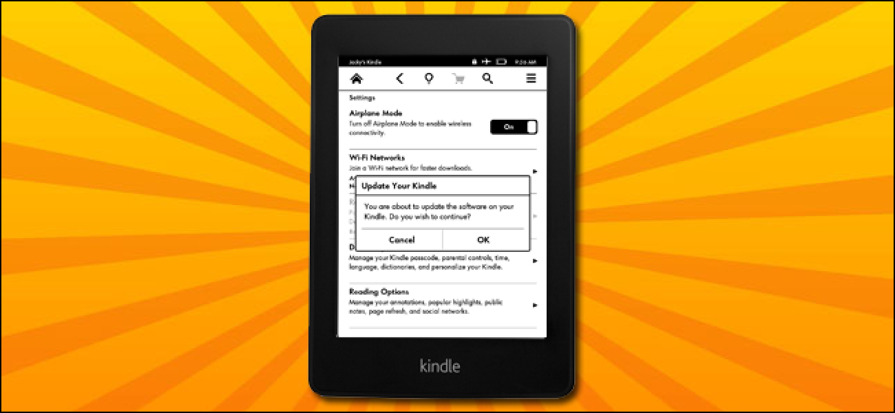 how to manually update kindle