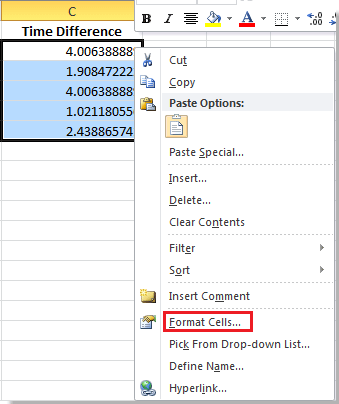 how to calculate time difference manually